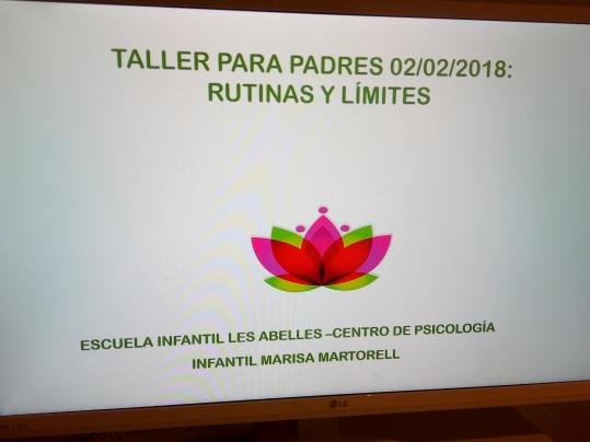 TALLER PARA PADRES 02/02/2018.ESCUELA INFANTIL LES ABELLES